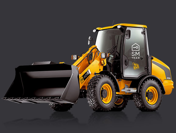 maszyna budowlana ładowarka JCB 406